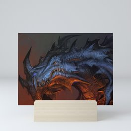 Magnificent Impressive Horned Fairytale Monster Reptile Face UHD  Mini Art Print