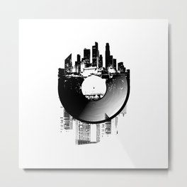 Urban Vinyl of Underground Music Metal Print