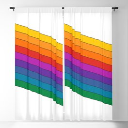 Dream Machine Stripes Blackout Curtain