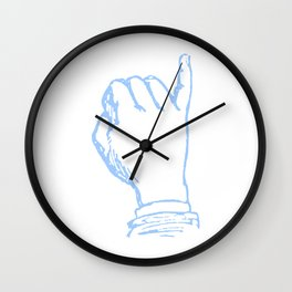 Little Pinkey Finger Illustration Wall Clock