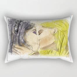 Deanoru: a surprise kiss Rectangular Pillow