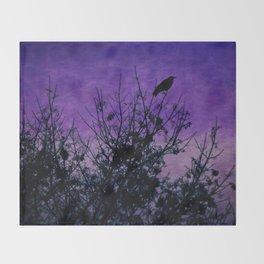 Raven Sentinel Throw Blanket