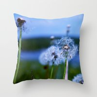 weed Throw Pillows featuring Weed by Libby Rose