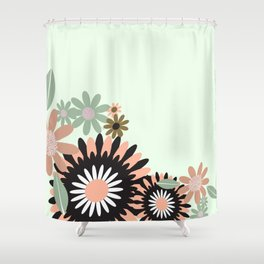 Geometric FLorals Shower Curtain