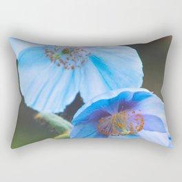 Himalayan Blue Poppy Rectangular Pillow