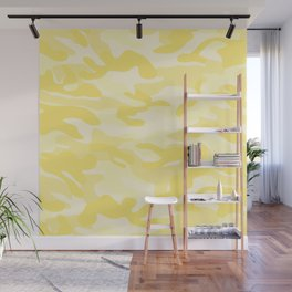 light Yellow Military Camouflage Pattern Wall Mural
