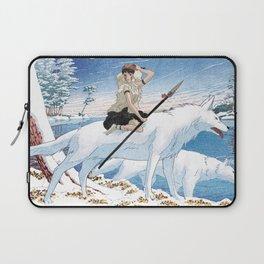 Mononoke and the wolves vintage japanese mashup Laptop Sleeve