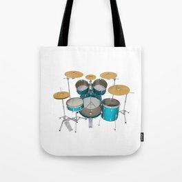 Green Drum Kit Tote Bag