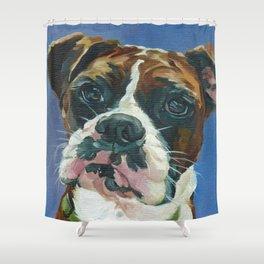 Khloe the Boxer Dog Fine Art Portrait Shower Curtain