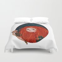 merida Duvet Covers featuring Merida from Brave by Naineuh