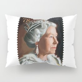 QUEEN ELIZABETH II STAMP Pillow Sham