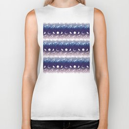 Mountains & Moons Stripe Biker Tank