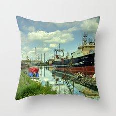 Blaengur  at Gdansk Shipyard Throw Pillow