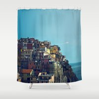 italy Shower Curtains featuring Italy by Rupert & Company