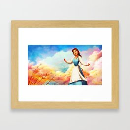 I Want Adventures in the Great Wide Somewhere Framed Art Print