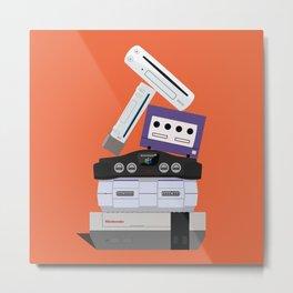 Nintendo Consoles Metal Print