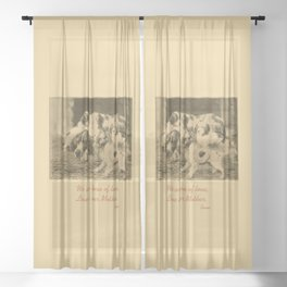 English Setter puppies & Mother's Day quote Sheer Curtain