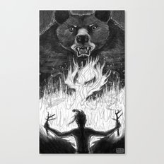 The Passing of Fire from Bear to Man Canvas Print