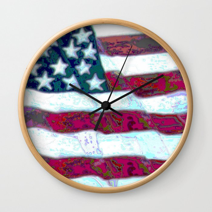 Old Glory Wall Clock
