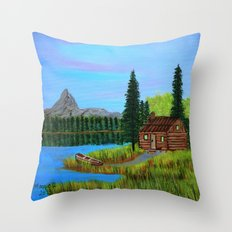 Peaceful day Throw Pillow