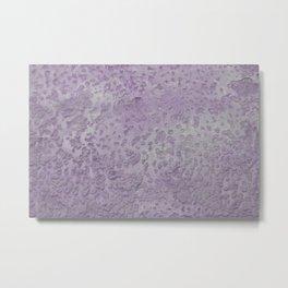 Old wall texture in purple Metal Print