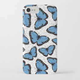 Blue morpho butterflies iPhone Case