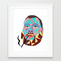action bronson Framed Art Prints featuring Action Bronson  by Fisch Design
