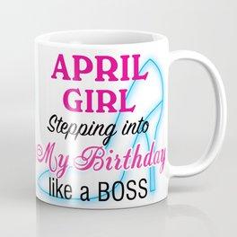 April Girl Birthday Coffee Mug