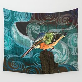 The King Fisher stake out Wall Tapestry