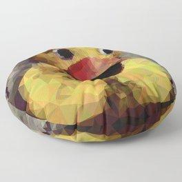 Geometric Yellow Rubber Duck Floor Pillow