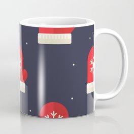 Red Christmas Gloves Pattern Coffee Mug