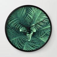 fern Wall Clocks featuring Fern by ravynka