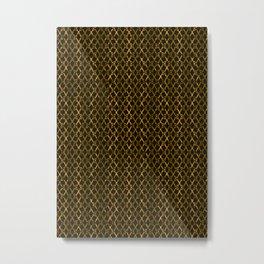 Golden Brown Scissor Stripes Metal Print