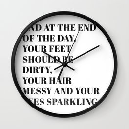 and at the end Wall Clock
