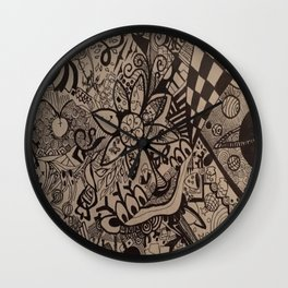 Black and Blanco Wall Clock