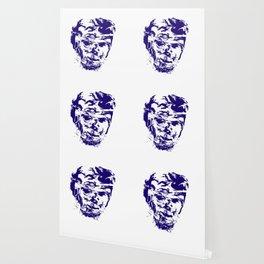 face 10, blue Wallpaper