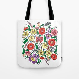 Hungarian embroidery motifs Tote Bag