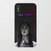 lawyer iPhone & iPod Cases featuring Trust me I'm a Zombie! by fatima almohd