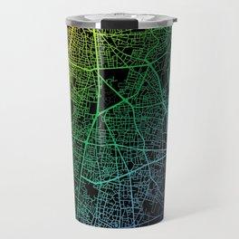 Beirut, Lebanon, City, Map, Rainbow, Map, Art, Print Travel Mug