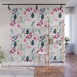 Flamingo Pattern 3 Wall Mural
