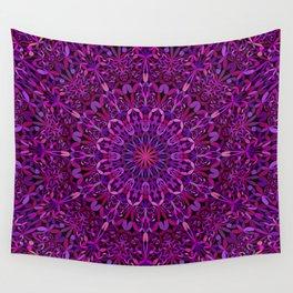 Pretty Purple Mandala Garden Wall Tapestry