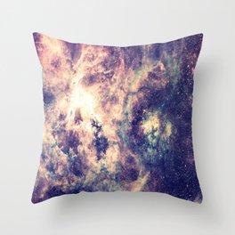 Tarantula Nebula Deep Pastels Throw Pillow