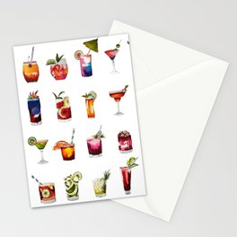 Cocktails Stationery Cards