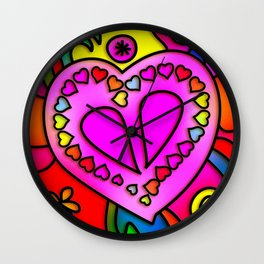 Colorful Modern Love Wall Clock