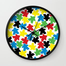 Meeple People Wall Clock