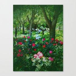 Natural Shady Picnic Garden  Canvas Print