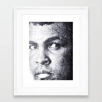 ali gulec Framed Art Prints featuring Ali by Paul Charles Kopp