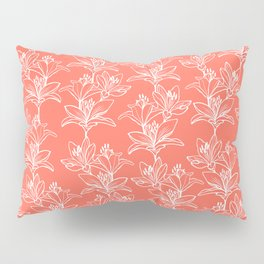 Lily Love in Coral Orange Pillow Sham