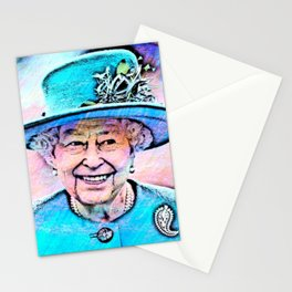 Queen Elizabeth II Artistic Illustration Fairy Style Stationery Cards