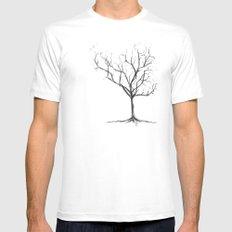 Tree White MEDIUM Mens Fitted Tee